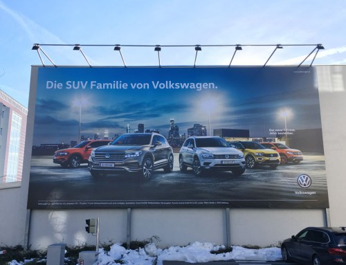 Porsche // Werbeflächen im Großformat