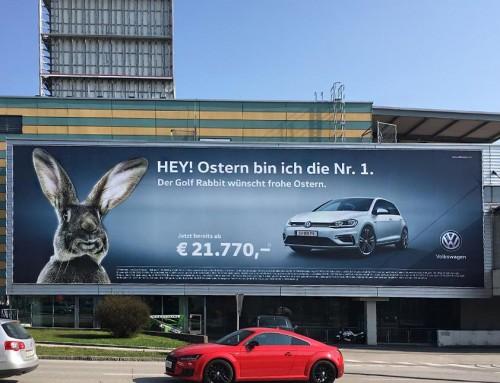 Die grössten Werbeflächen Salzburgs // Frohe Ostern!